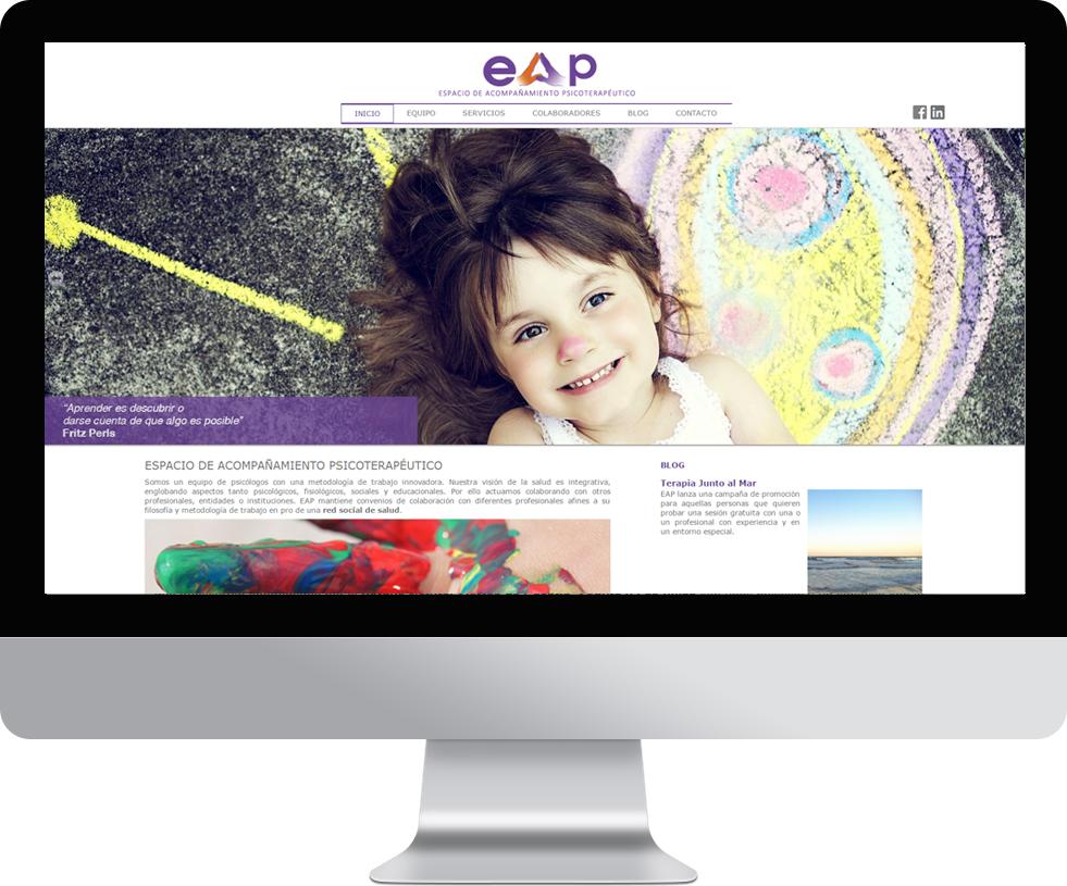 Trabajo web de espacio ap en pantalla grande
