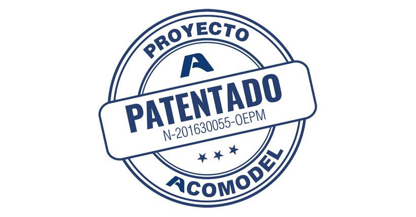 Sello de patente de la empresa Acomodel