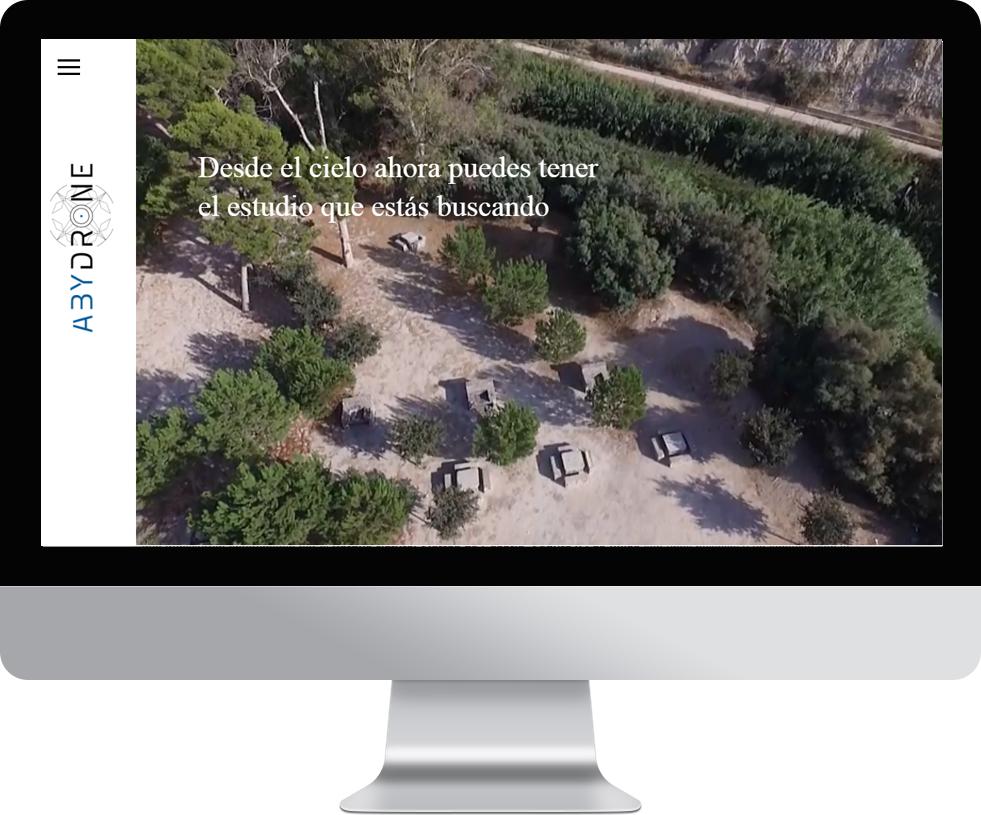 Trabajo web para Abydrone en pantalla grande