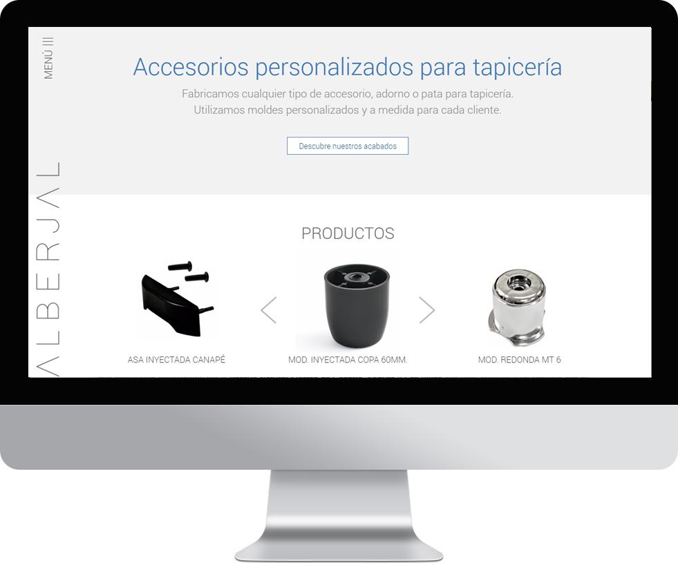 Trabajo web para Alberjal en pantalla grande