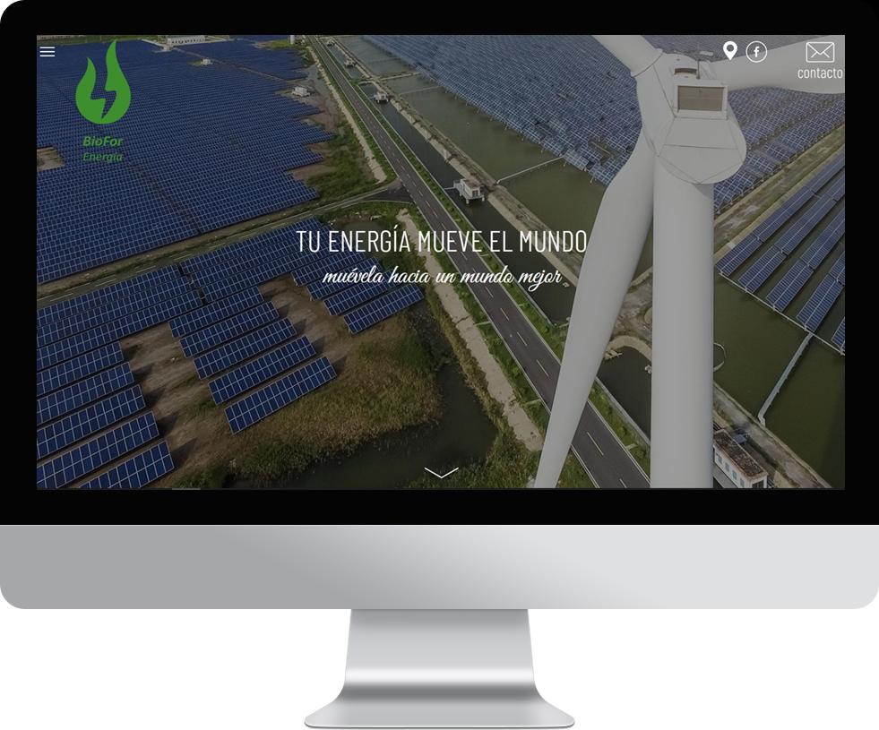 Trabajo web para Biofor en pantalla grande