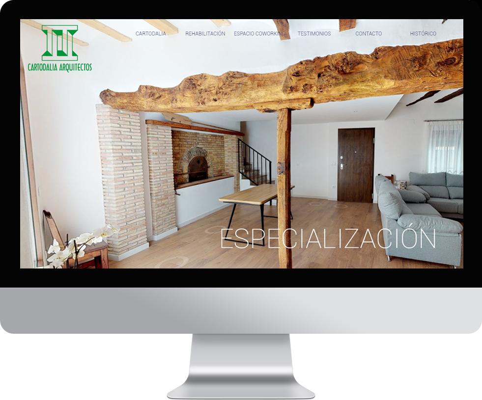 Trabajo web para Cartodalia en pantalla grande