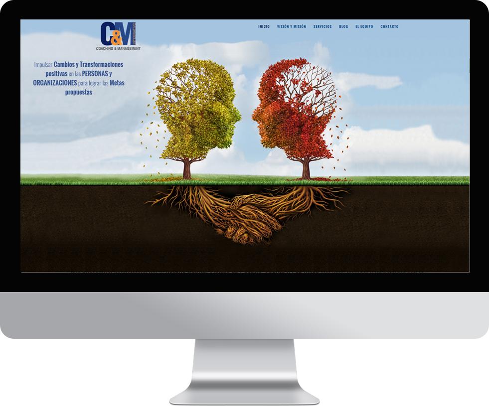 Trabajo web para C&M Integrativo en pantalla grande