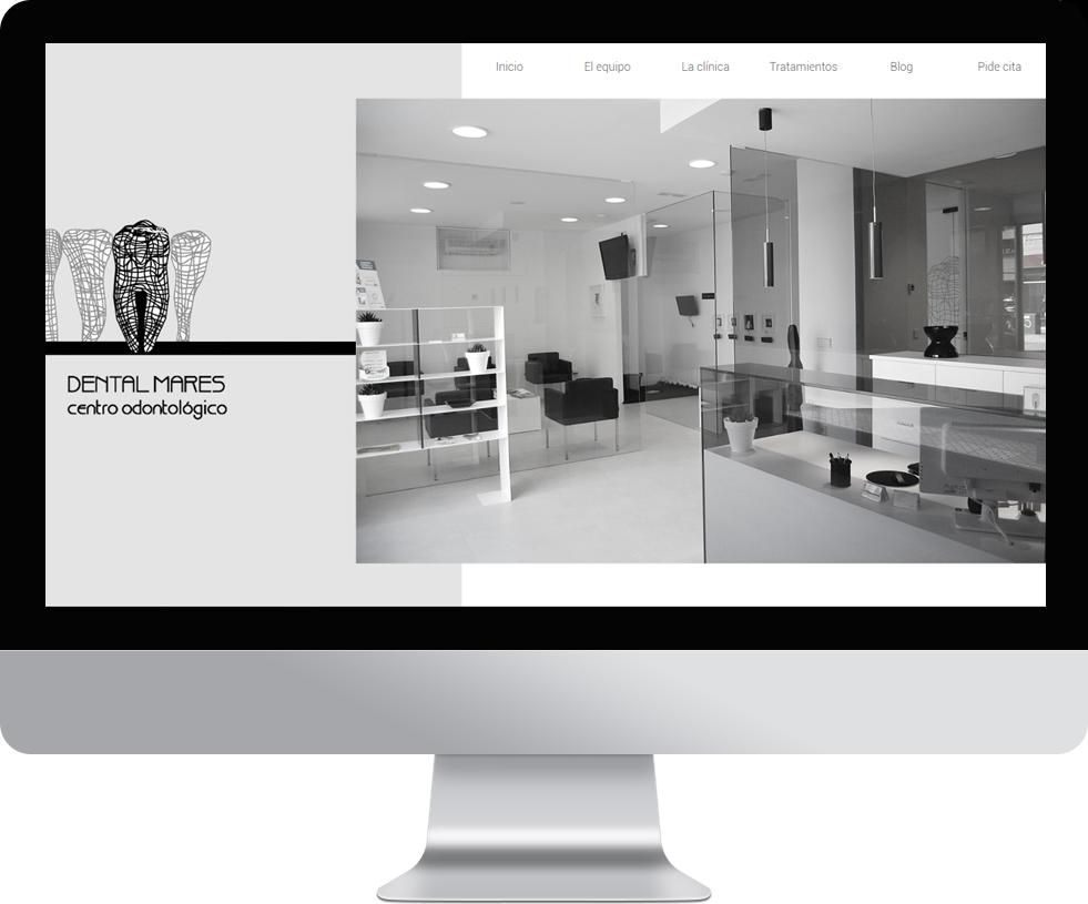 Trabajo web para Dentalmares en pantalla grande