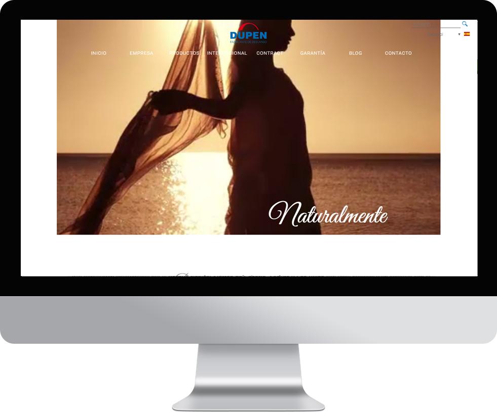 Trabajo web para Colchón Dupen en pantalla grande