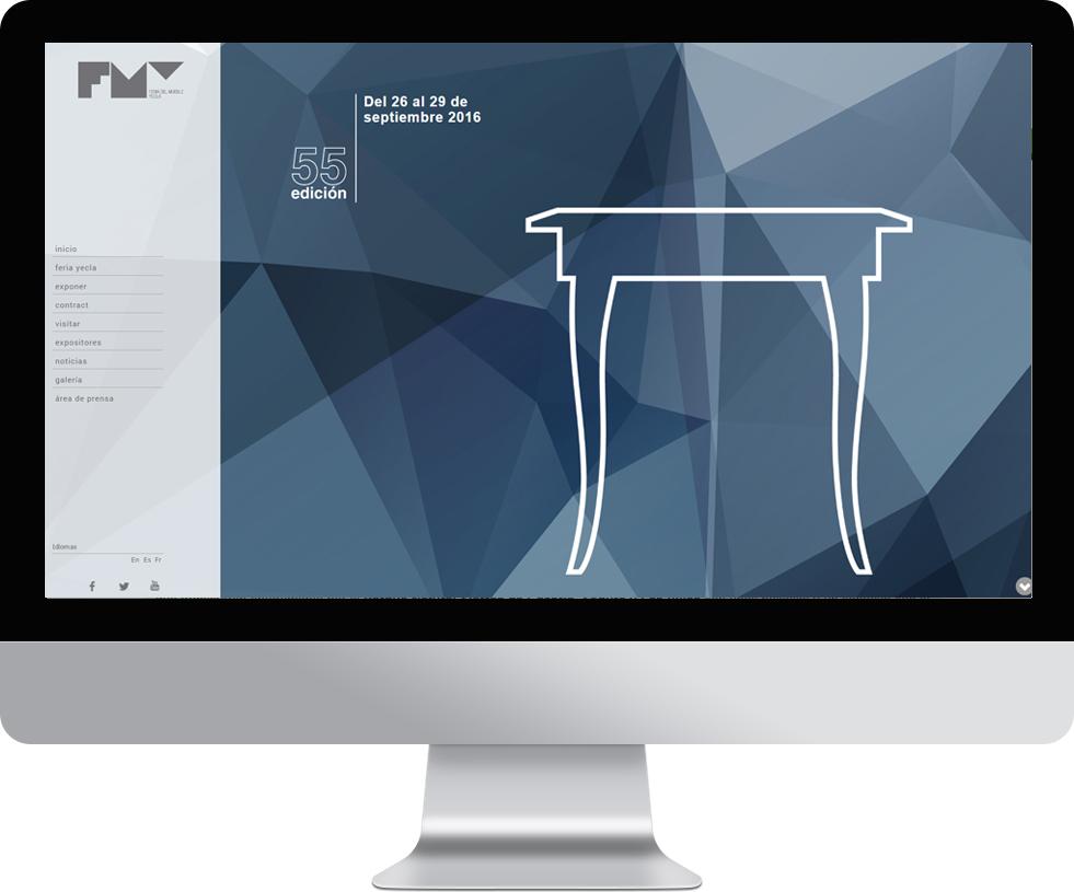 Trabajo web para Feria del mueble de Yecla en pantalla grande