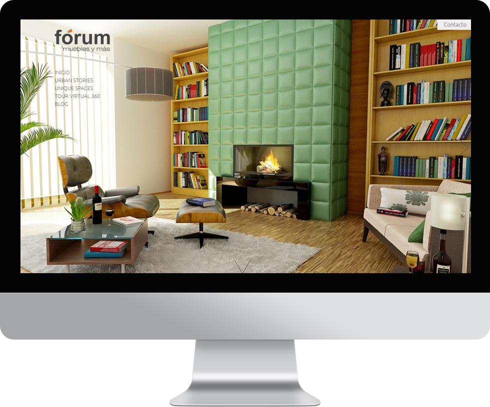 Trabajo web para Fórum Muebles en pantalla grande