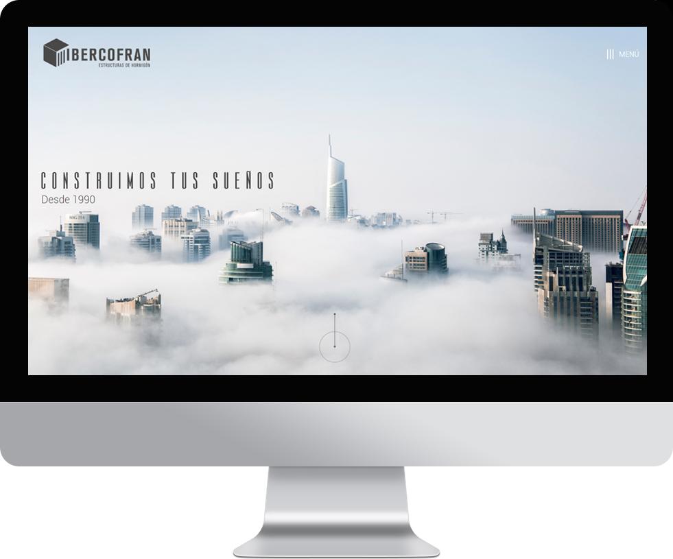 Trabajo web para Ibercofran en pantalla grande