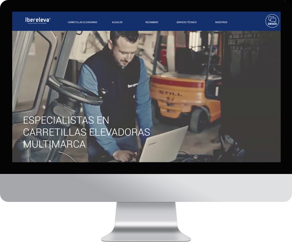 Trabajo web para Ibereleva en pantalla grande