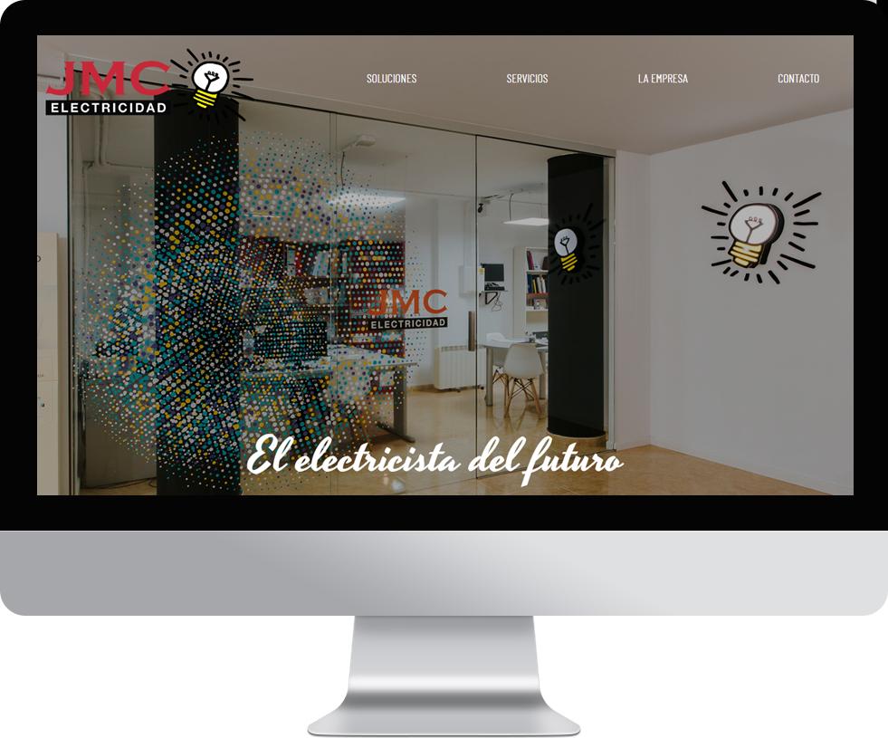 Trabajo web para JMC Electricidad en pantalla grande