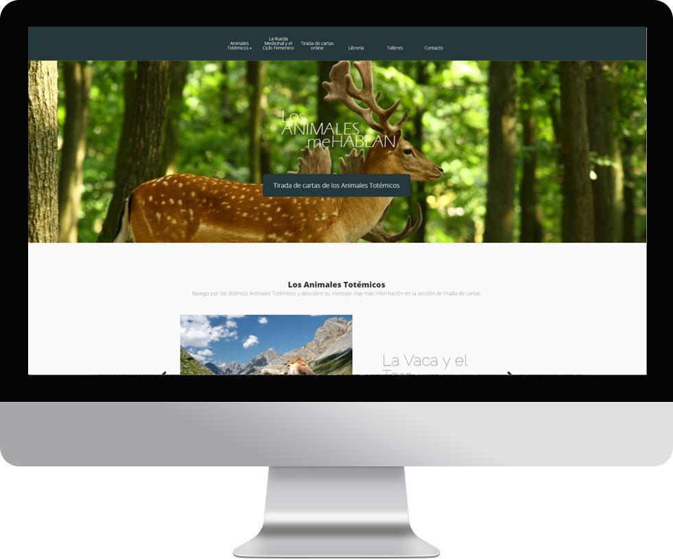 Trabajo web de Los Animales Me Hablan en pantalla grande