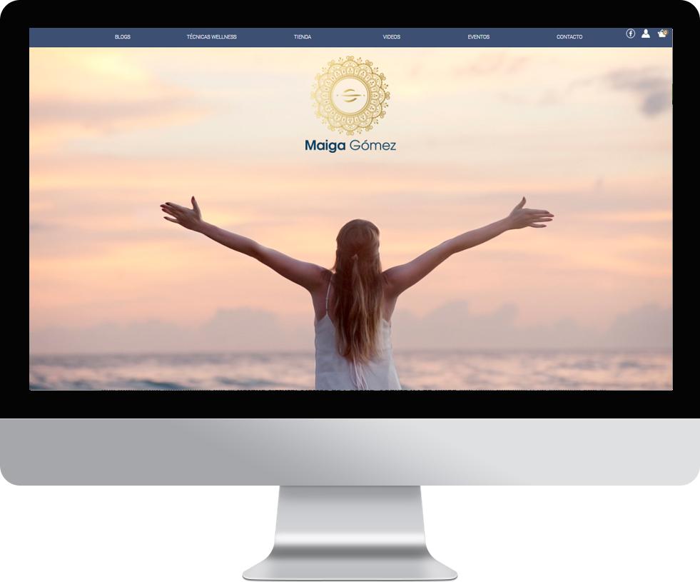 Trabajo web para Maiga Gómez en pantalla grande