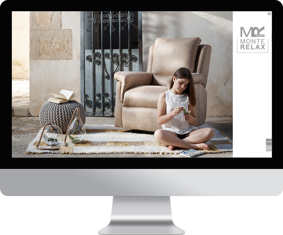Trabajo web para Monterelax en pantalla grande