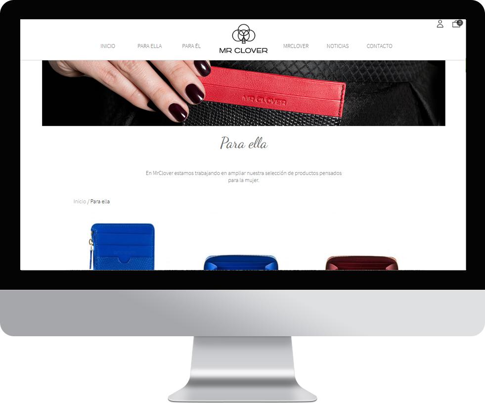 Trabajo web para MrClover en pantalla grande