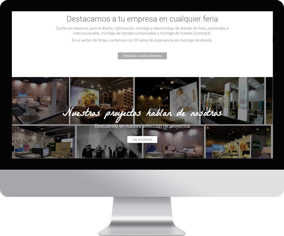 Trabajo web para ProONEstand en pantalla grande