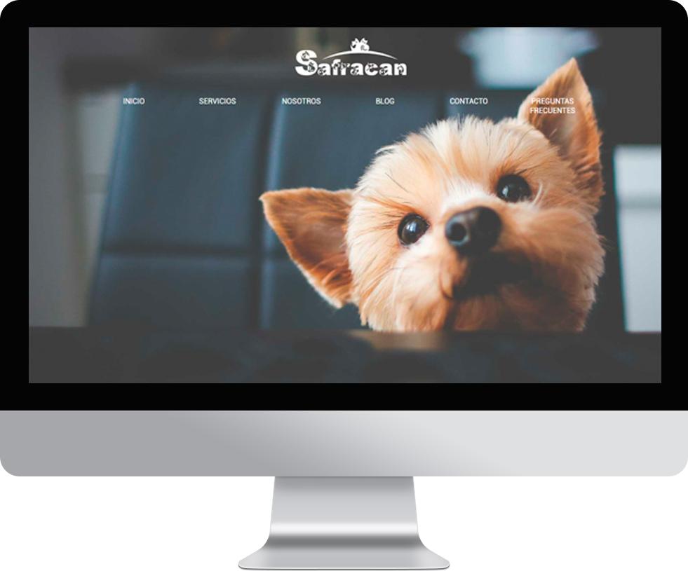Trabajo web para Safracan en pantalla grande