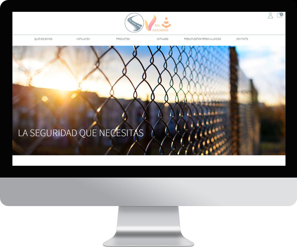 Trabajo web para Seguridad Vial Vallados en pantalla grande