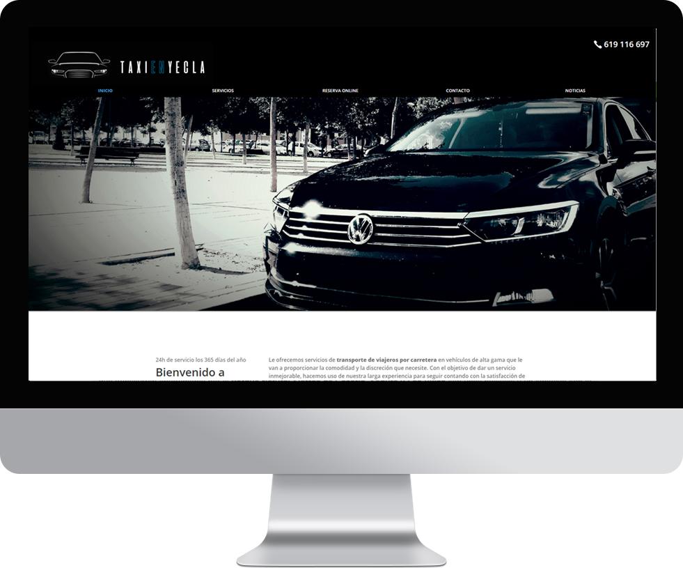 Trabajo web para TaxiEnYecla en pantalla grande