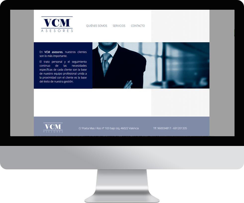 Trabajo web para VCM-asesores