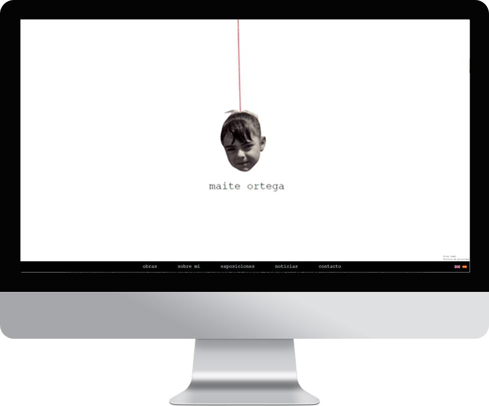 Trabajo web para Maite Ortega en pantalla grande