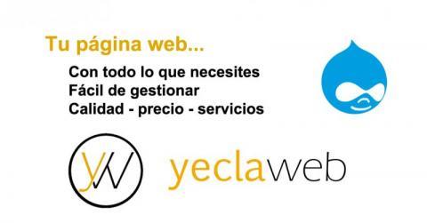 Tu página web con todo lo que necesitas y fácil de gestionar con YeclaWeb