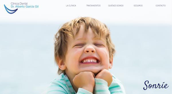 Página web de Clinica Alberto García Gil