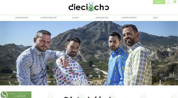 Página web de Dieciacho
