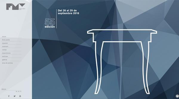 Página web Feria del mueble de Yecla