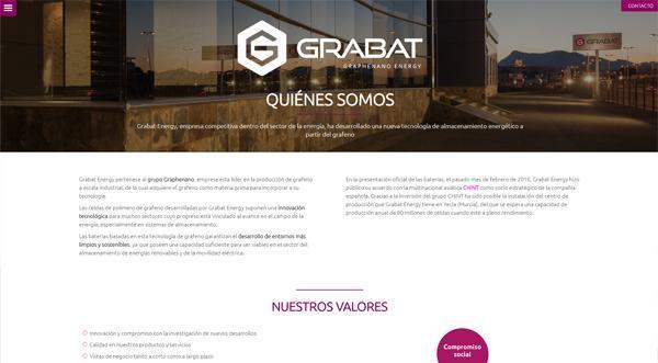 Página web Grabat Energy