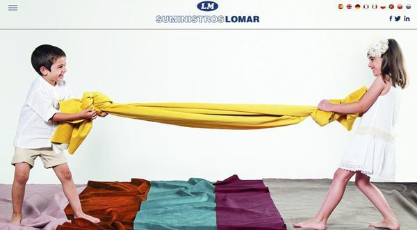 Página web de Suministros Lomar