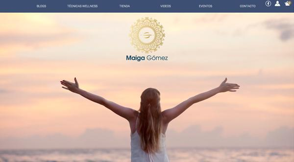 Página web de Maiga Gómez