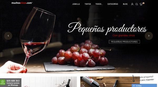 Página web de Muchos Vinos