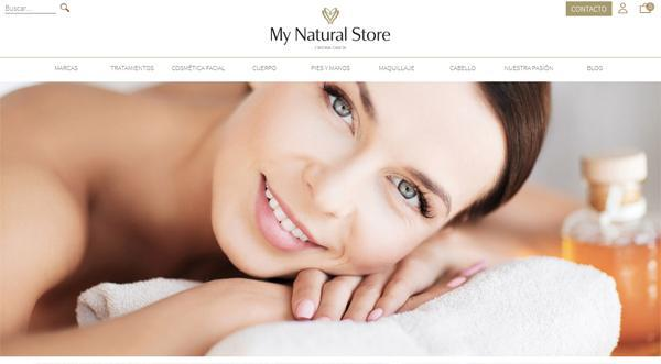 Página web de My Natural Store