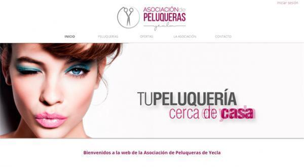 Página web Peluquerías en Yecla