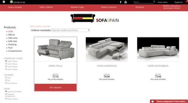 Página web SofaSpain