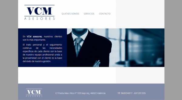 Página web VCM-asesores