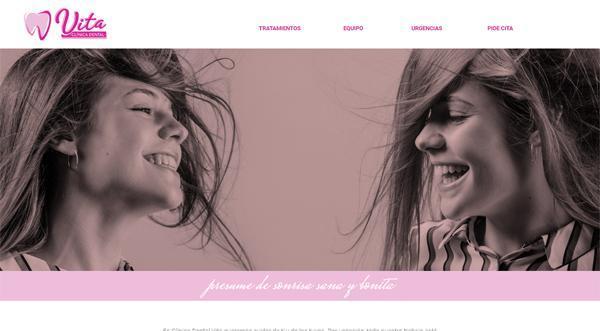 Página web de la Clínica Dental Vita