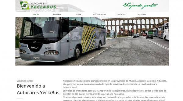 Página web Autocares YeclaBus